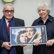 martin-scorsese-thelma-schoonmaker-holding-matter-of-life-and-death-stamp
